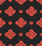 Seamless wallpaper of red flowers Royalty Free Stock Photography