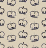 Seamless Wallpaper Representing the Crown of the British Royal Family Stock Photos