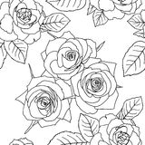 Seamless wallpaper with rose flowers Royalty Free Stock Photo