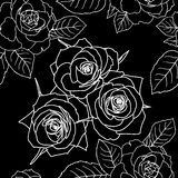 Seamless wallpaper with rose flowers Stock Image