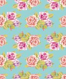 Seamless wallpaper with roses Royalty Free Stock Photography