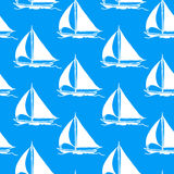 Seamless wallpaper with a sailboat vector illustration