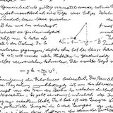 Seamless wallpaper with science handwriting. Seamless wallpaper based on Einstein's manuscript Royalty Free Stock Images