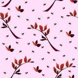 Seamless wallpaper  a seam with flower Stock Image