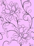 Seamless wallpaper  a seam with flower and leaves Royalty Free Stock Images