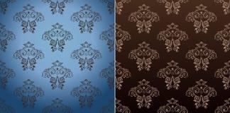 Seamless wallpaper set vector vintage background Stock Image