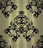 Seamless wallpaper on a silver background Royalty Free Stock Image