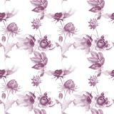 Seamless wallpaper with spring flowers. Watercolor painting Royalty Free Stock Photos