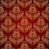 Seamless wallpaper in style retro. Stock Images