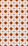 Seamless wallpaper- terracotta on a white Royalty Free Stock Image