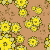 Seamless Wallpaper Tile Flower Royalty Free Stock Photo