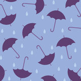 Seamless wallpaper with umbrellas Stock Photography