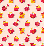 Seamless Wallpaper for Valentines Day or Wedding Royalty Free Stock Image