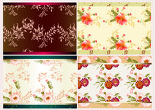 Seamless wallpaper vector set Royalty Free Stock Images