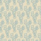 Seamless Wallpaper, vektorbakgrund Royaltyfri Foto