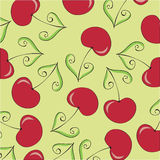 Seamless Wallpaper With Cherries Royalty Free Stock Photography