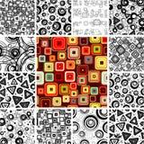 seamless wallpapers royaltyfri illustrationer