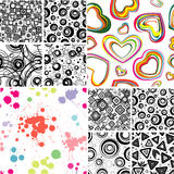 SEAMLESS Wallpapers. Set vector patterns Stock Image