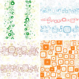 SEAMLESS wallpapers. From geometric figures and spots backgrounds Royalty Free Stock Photos