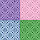 Seamless wallpapers - set of four colors. Stock Photo
