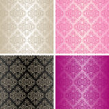 Seamless wallpapers - set of four colors. Stock Photos