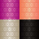 Seamless wallpapers - set of four colors. Royalty Free Stock Photography