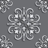 Seamless wallpapers in the style of Baroque . Can be used for backgrounds and page fill web design Stock Photos