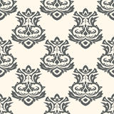 Seamless wallpapers in the style of Baroque . Can be used for backgrounds and page fill web design Royalty Free Stock Image
