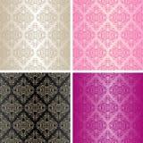 Seamless wallpapers - uppsättningen av fyra färgar. vektor illustrationer