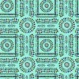 Seamless warli tribal art Royalty Free Stock Image