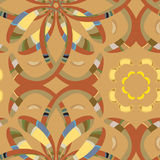 Seamless Warm Florets. Seamless wallpaper pattern based on from North African motifs and European Middle Ages colors Royalty Free Stock Photos