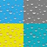 Seamless water drop pattern Stock Photo