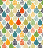 Seamless water drops pattern. Seamless doodle dots water drops pattern Stock Images