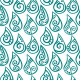 Seamless water drops patterned rain royalty free illustration