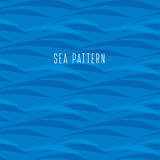 Seamless water pattern. Stock Photography