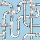 Seamless water pipes vector beckground Royalty Free Stock Images