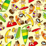Seamless water sport pattern Stock Images