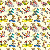 Seamless water sport pattern Royalty Free Stock Photo