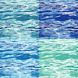 Seamless Water Surface Pattern Variations Stock Images