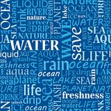 Seamless water tags cloud Stock Photo