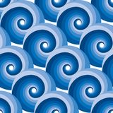 Seamless water wave pattern Royalty Free Stock Image