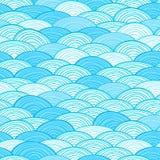 Seamless Water Wave Pattern Stock Photography