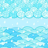 Seamless Water Wave Pattern Stock Photography