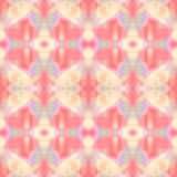 Seamless watercolor abstract ethnic ornamental tribal pattern. royalty free stock photo