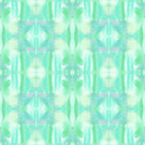 Seamless watercolor abstract ethnic ornamental tribal pattern. Royalty Free Stock Photos