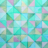 Seamless watercolor background with colorful triangles. Royalty Free Stock Photos