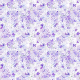 Seamless watercolor background lilac flowers Stock Photo