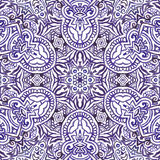 Seamless watercolor background. Seamless purple watercolor doodle fantasy decorative background Stock Image