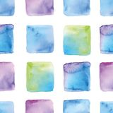 Seamless watercolor background of squares vector illustration