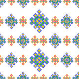 Seamless watercolor celtic knot pattern isolated on white  Royalty Free Stock Photos